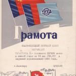 51-pm-of-2518-gramota-yamalo-nenetskogo-okrsoveta-za-pervoe-mesto-v-lyzhnoj-gonke-taratunina-viktora-afanasevicha-1965-god