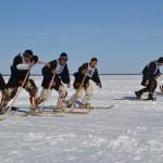 Бег на национальных лыжах