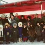 Экскурсия для детей в пожарной части по охране  с.Аксарка
