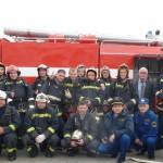 Коллектив пожарной части по охране  с.Аксарка, 2015г.