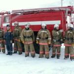 Личный состав пожарной части по охране пгт. Харп