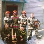 Личный состав пожарной части по охране с.Аксарка