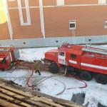 Ликвидация пожара в с.Аксарка на ул. Ямкина,  2015г