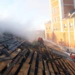 Ликвидация пожара в с.Аксарка на ул. Ямкина  д.2, 2015г