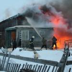 Ликвидация пожара в с.Аксарка на ул.Северная