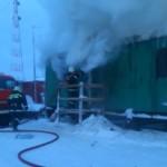 Ликвидация пожара в жилом балке п. Катравож. Пожарная часть по охране с.Катравож