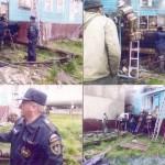 Ликвидация возгаранния в бане п. Белоярск. Пожарная часть по охране с.Белоярск