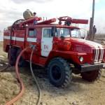 На учениях, 2006г.  Пожарная часть по охране пгт. Харп