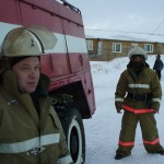 ПСП, пожарный Терентьев И.М. и водитель Филиппов Б.Г. Пожарная часть по охране с.Харсаим