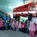 Поздравление воспитанников детского сада в день пожарной охраны. Пожарная часть  по охране с. Катравож