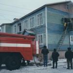 Возгорание на узле связи п.Аксарка,  2001г