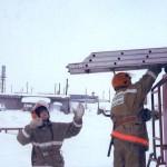 Занятия по пожарно-строевой подготовке. Пожарная часть по охране с. Белоярск