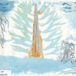 Лиственница зимой Автор Черкова Юля 6 лет