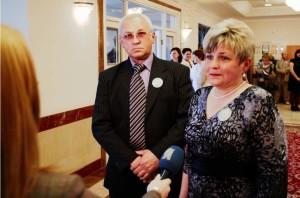 Семья Гужавиных награжденная медалью «За любовь и верность»