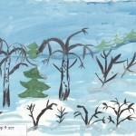 Зимний лес Автор Лаптандер Егор 9 лет