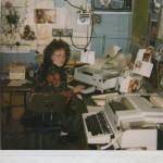 Рочева Е.В.- телеграфист узла связи. 1995г. Фотография из личного архива Рочевой Е.В