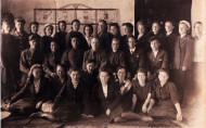 Учительская конференция 1948 г. третья снизу Мальцева Р.Ф.