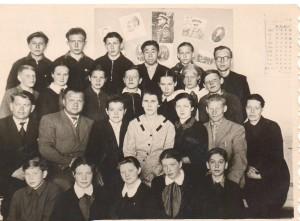 ПМОФ-700. Учителя Аксарковской средней школы п.Аксарка 1961 г