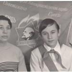 ПМОФ-737.Витязева Зоя Скменовна бухгалтер Аксарковского рыбозавода с сыном Николаем